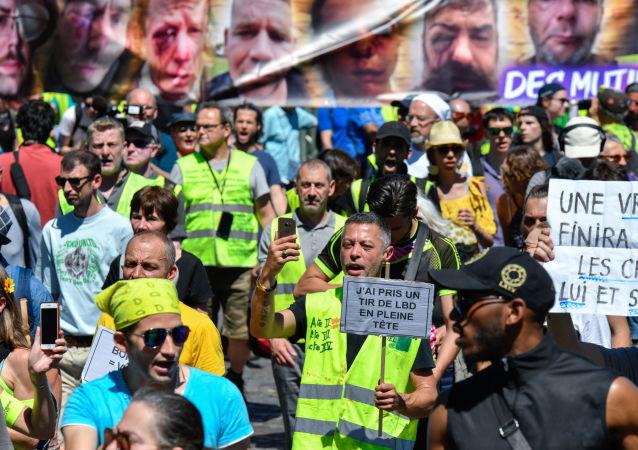 Las protestas de los 'chalecos amarillos' en París, Francia (archivo)