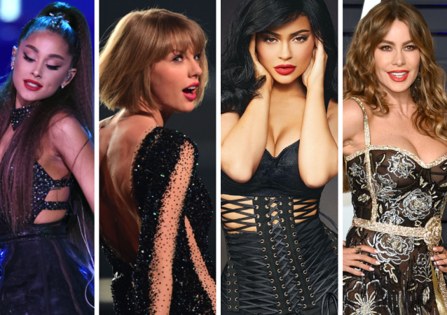 Ariana Grande, Taylor Swift, Kylie Jenner y Sofía Vergara