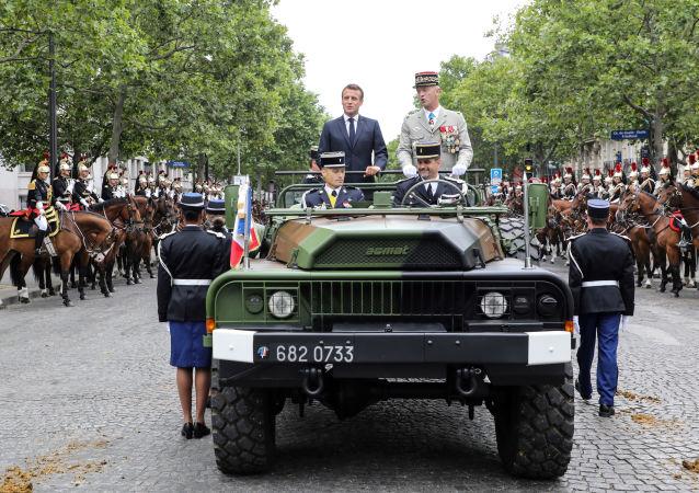 Emmanuel Macron, presidente de Francia en la fiesta nacional de la Toma de la Bastilla