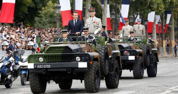 Emmanuel Macron, presidente de Francia durante el día de la Toma de la Bastilla
