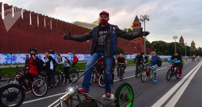 El festival de bicicletas en Moscú