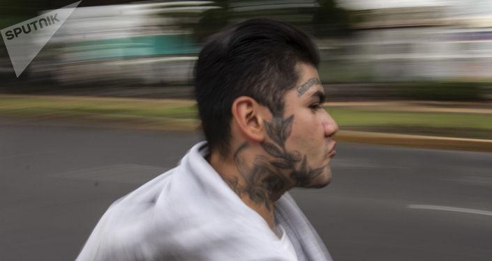Toño, durante una rodada en la Ciudad de México