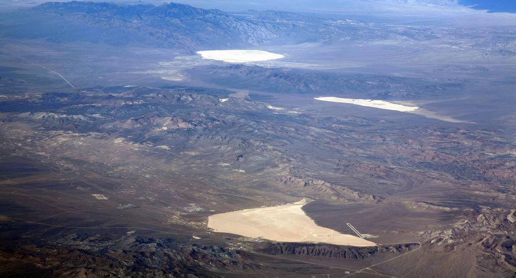 Vista del Área 51 de arriba