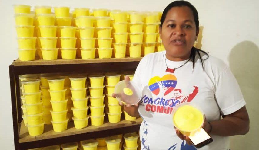 Yaritza Navarro, comunera que trabaja en el Sistema de Iniciativa Económica Socialista Comunal de Caracas, Venezuela