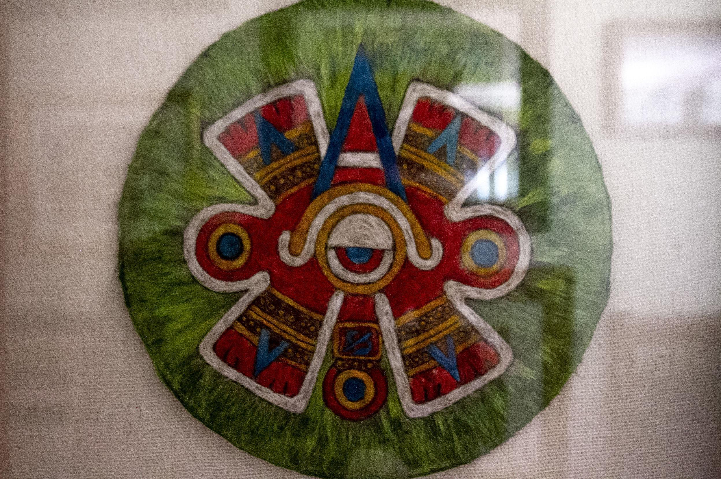 Cuadro en la colección de María Olvido Moreno, elaborado por amantecas