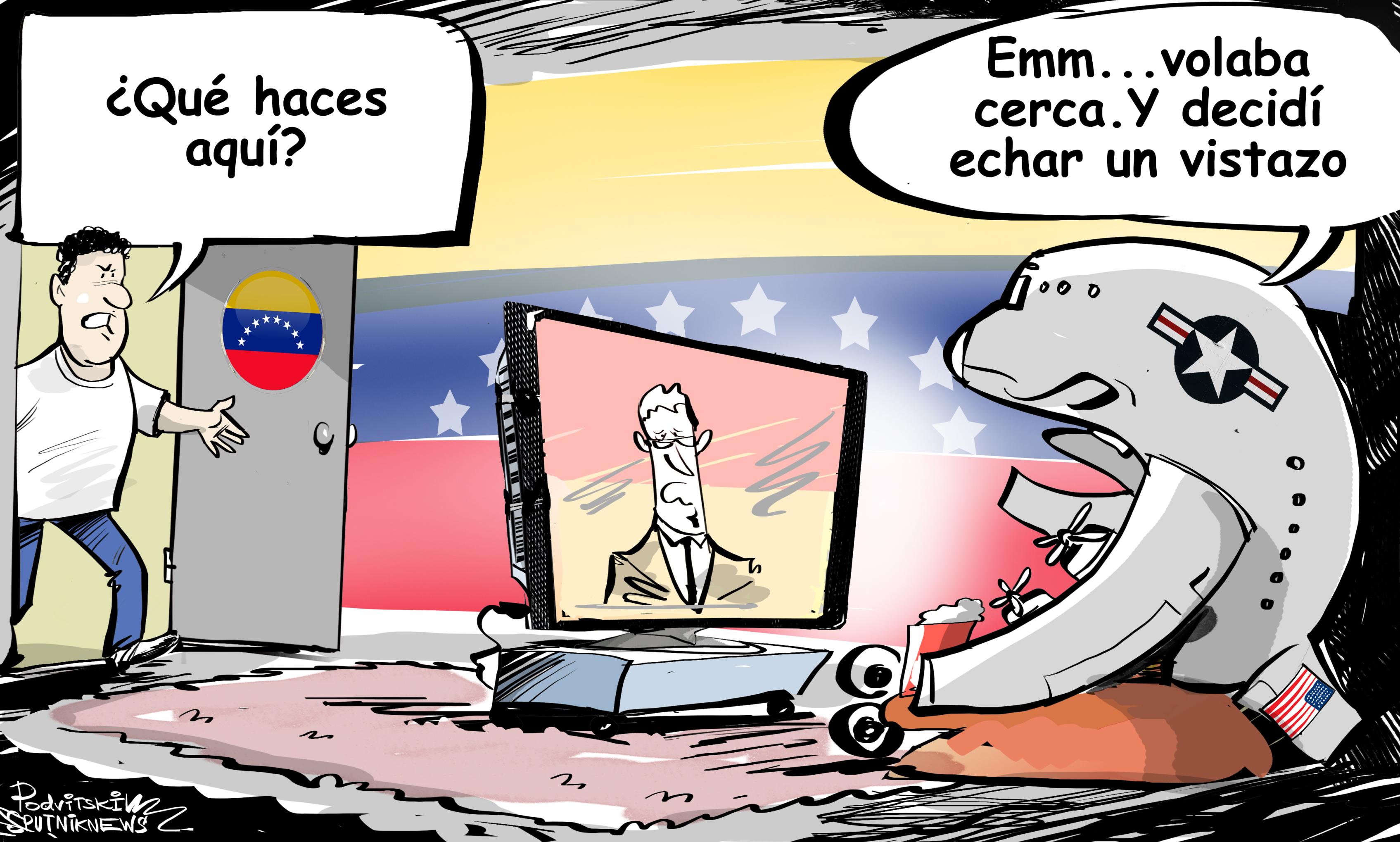 ¿Qué haces aquí? EEUU acusa a Venezuela perseguir agresivamente su avión
