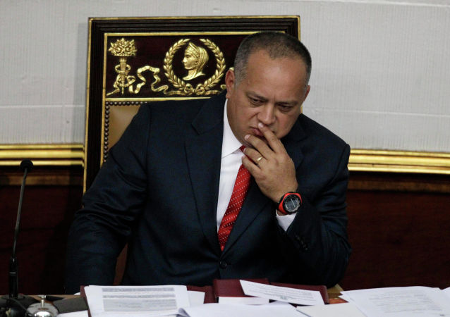 El titular de la Asamblea Nacional (Parlamento) de Venezuela, Diosdado Cabello