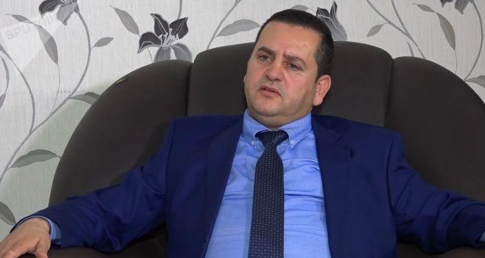 Abdul Hadi Hweij, ministro de Exteriores y Cooperación Internacional del gobierno interino del este de Libia
