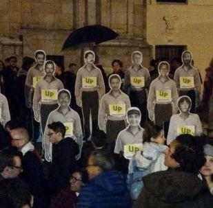 Protesta en Bogotá  los asesinatos de los líderes sociales en Colombia (archivo)