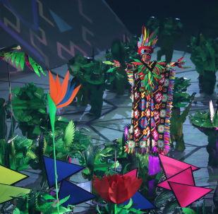 Danzas, piragüistas y mucha luz: la ceremonia de inauguración de los Juegos Panamericanos, al detalle