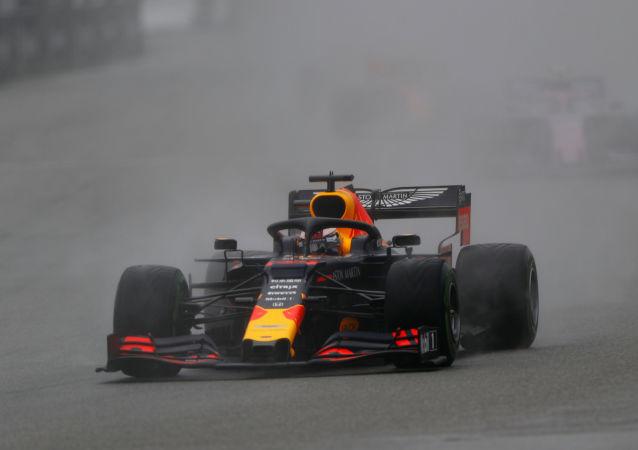 Max Verstappen del equipo Red Bull durante la carrera de Hockenheim