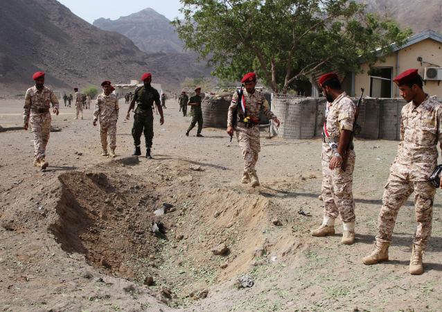 Lugar del ataque realizado con misiles en la ciudad yemení de Adén
