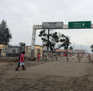 La forntera entre la RD Congo y Ruanda