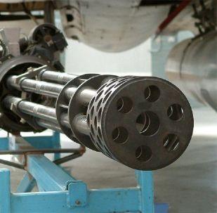 Una ametralladora rotativa