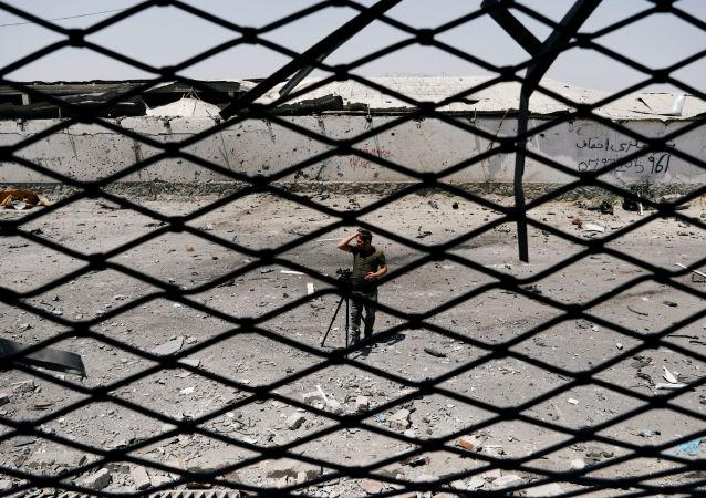 Lugar de una explosión en Afganistán