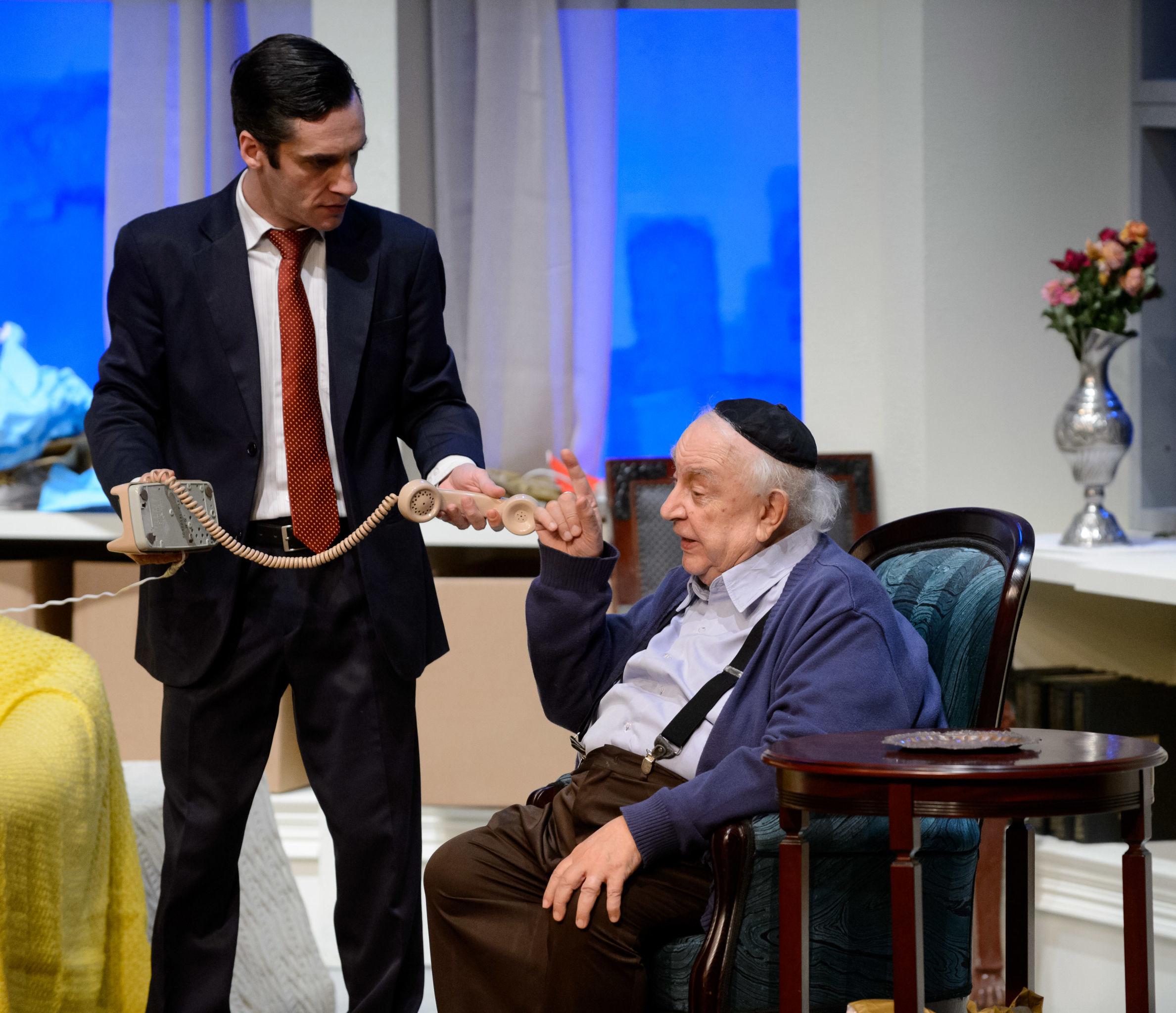 Ricardo Gelli y Sérgio Mamberti durante su actuación en el Festival Internacional de Teatro Chéjov, en Moscú