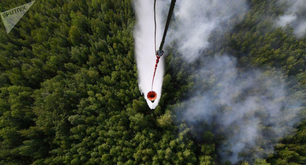 Lucha contra incendios forestales en Rusia