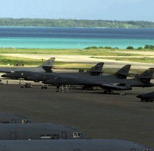 Bombarderos Lancer B-1B en la base Diego García, en el archipiélago de Chagos (archivo)