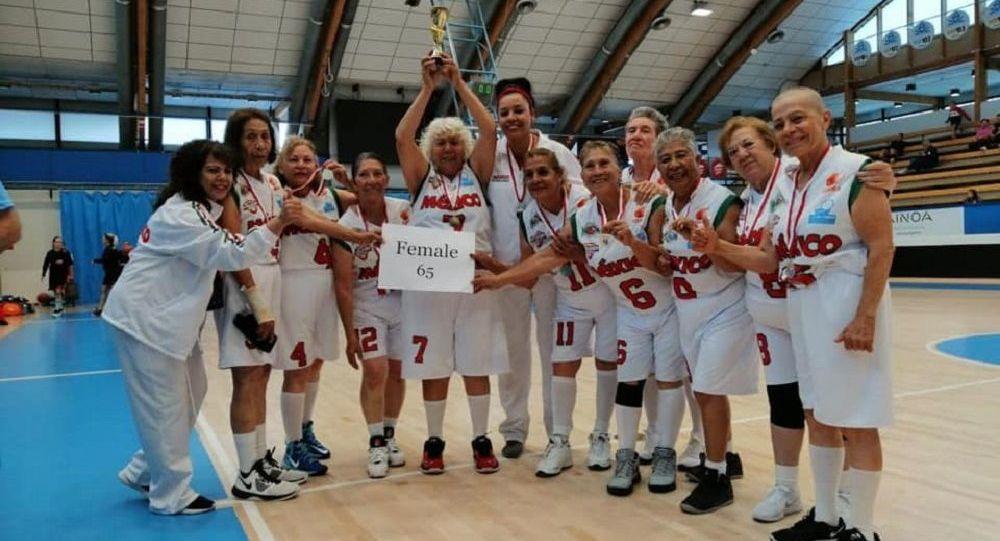 La selección mexicana femenina de baloncesto de mayores de 65 años