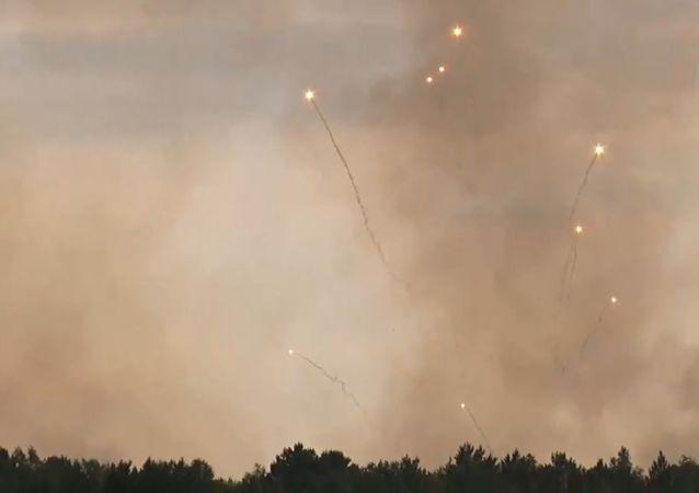 Incendio de municiones en un arsenal en la región rusa de Krasnoyarsk
