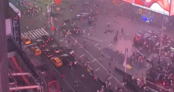 Caos y pánico en el centro de Nueva York por una falsa alarma de tiroteo