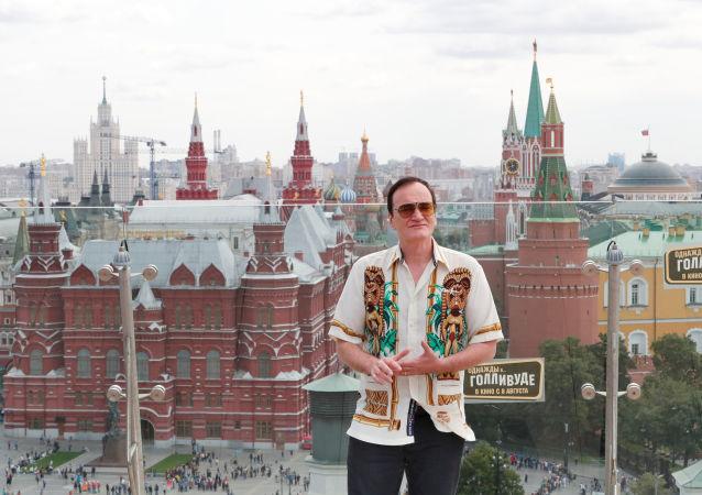 El cineasta estadounidense Quentin Tarantino en Moscú