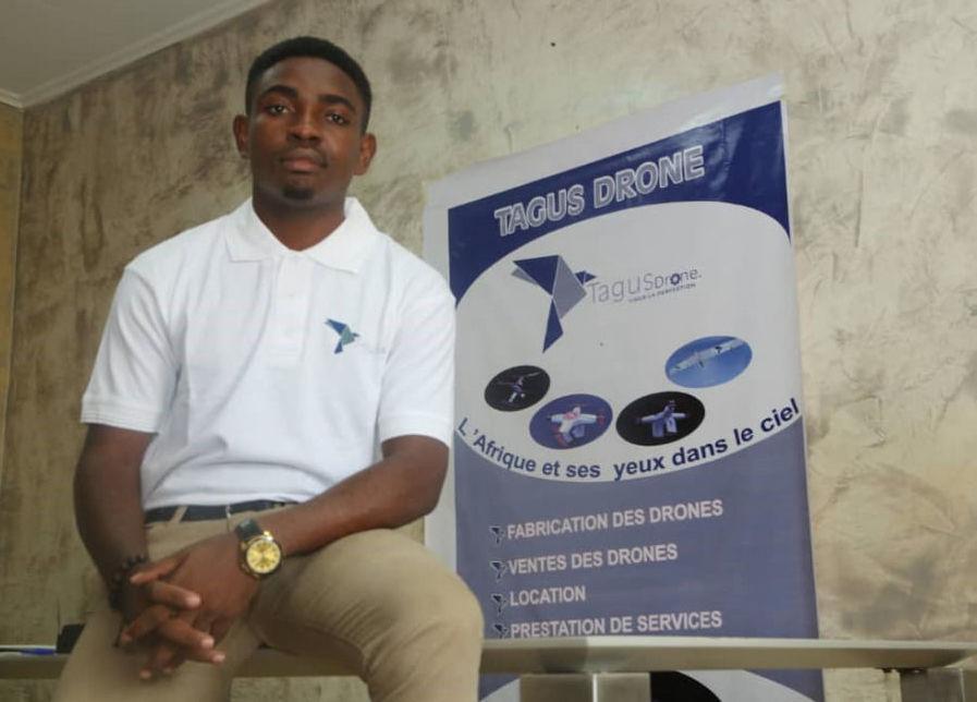 Borel Teguia, el creador del dron solar camerunés