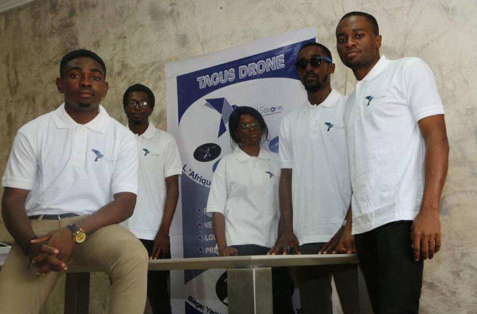 Borel Teguia y su equipo de Tagus Drone