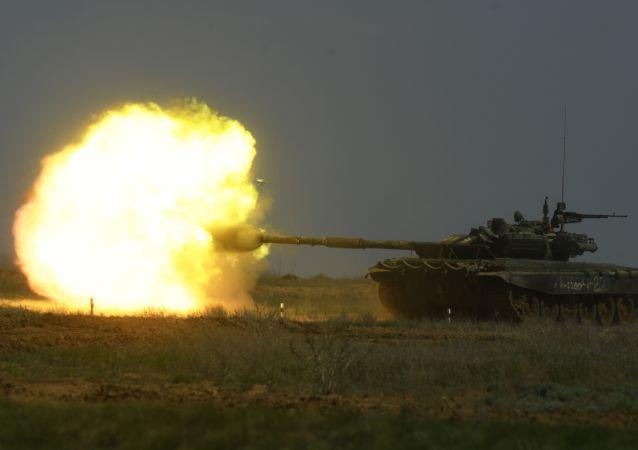 Un tanque T-90  (archivo)