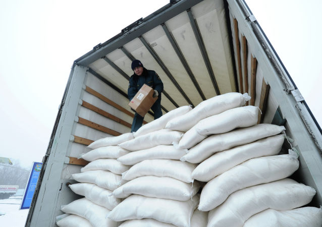 Ayuda humanitaria para Donbás (archivo)