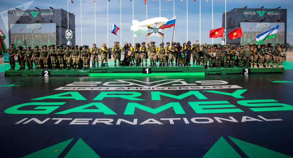 El podio de los juegos Army 2019