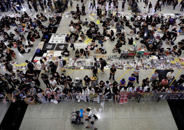 El aeropuerto de Hong Kong en medio de protestas