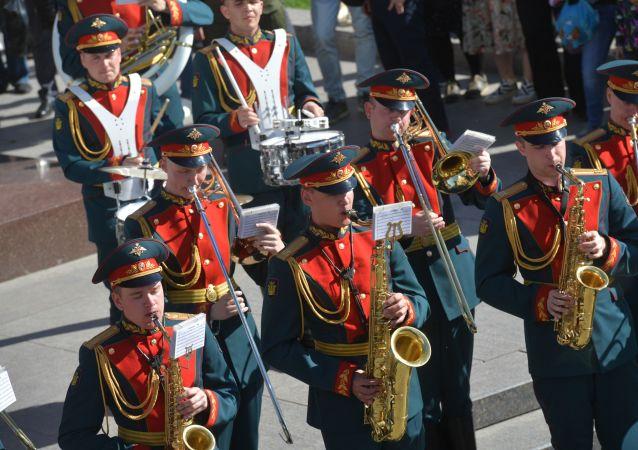 La Banda Militar Ejemplar de la Guardia de Honor de Rusia