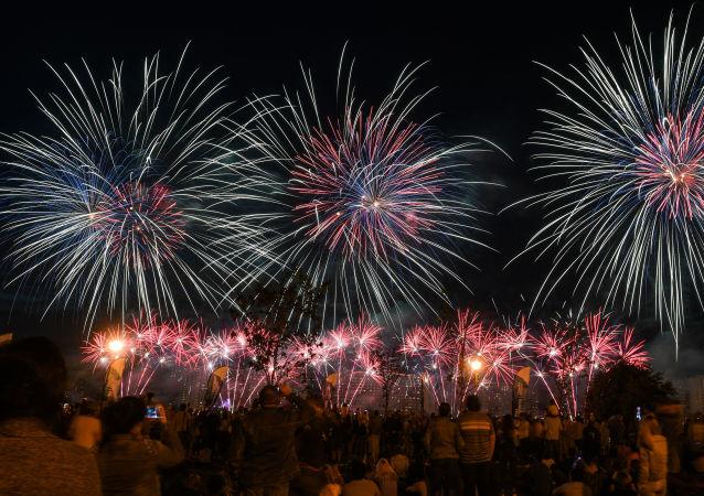 Festival Internacional de Fuegos Artificiales Rostec 2018 (archivo)