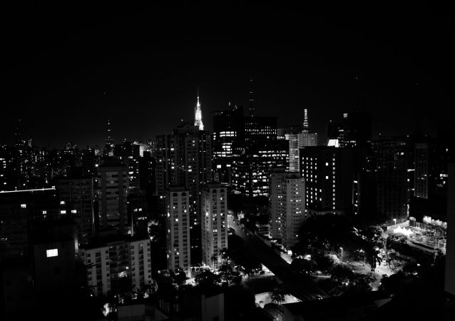 Sao Paulo de noche, imagen referencial