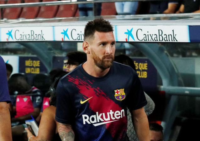Lionel Messi y su hijo Mateo