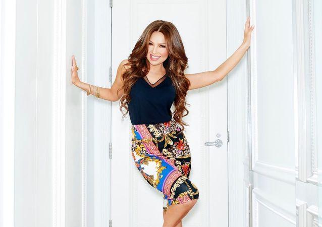 Thalía, cantante y actriz mexicana