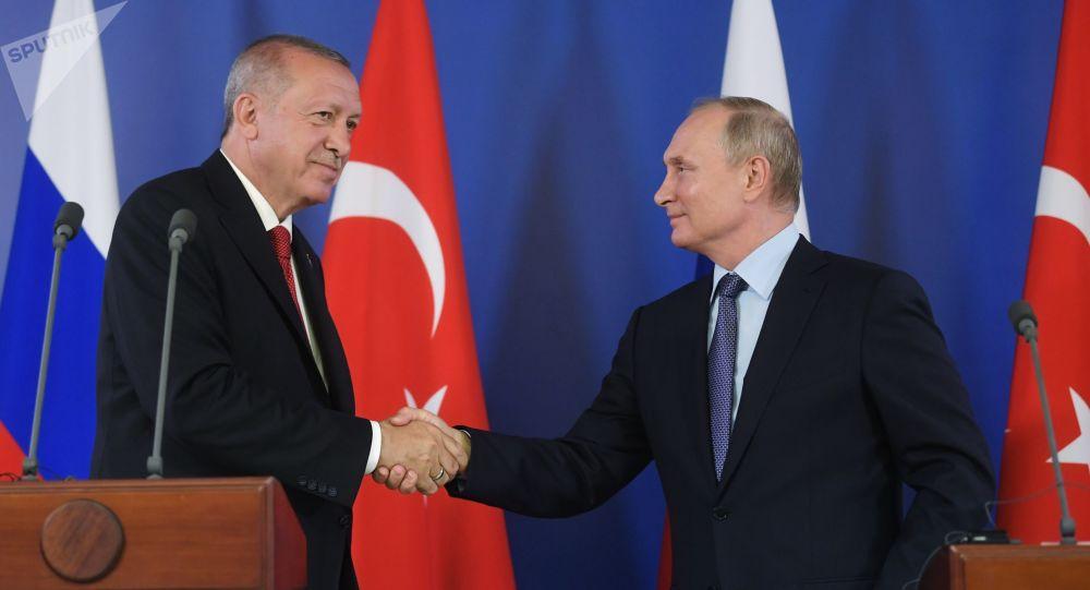 Vladímir Putin y Recep Tayyip Erdogan