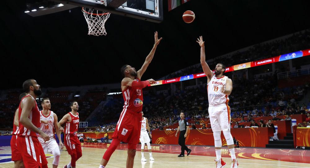 El partido de España contra Túnez en la FIBA