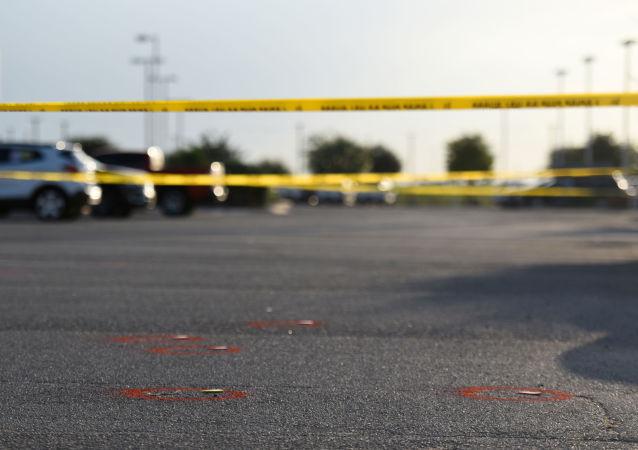 El lugar del tiroteo en Texas, EEUU