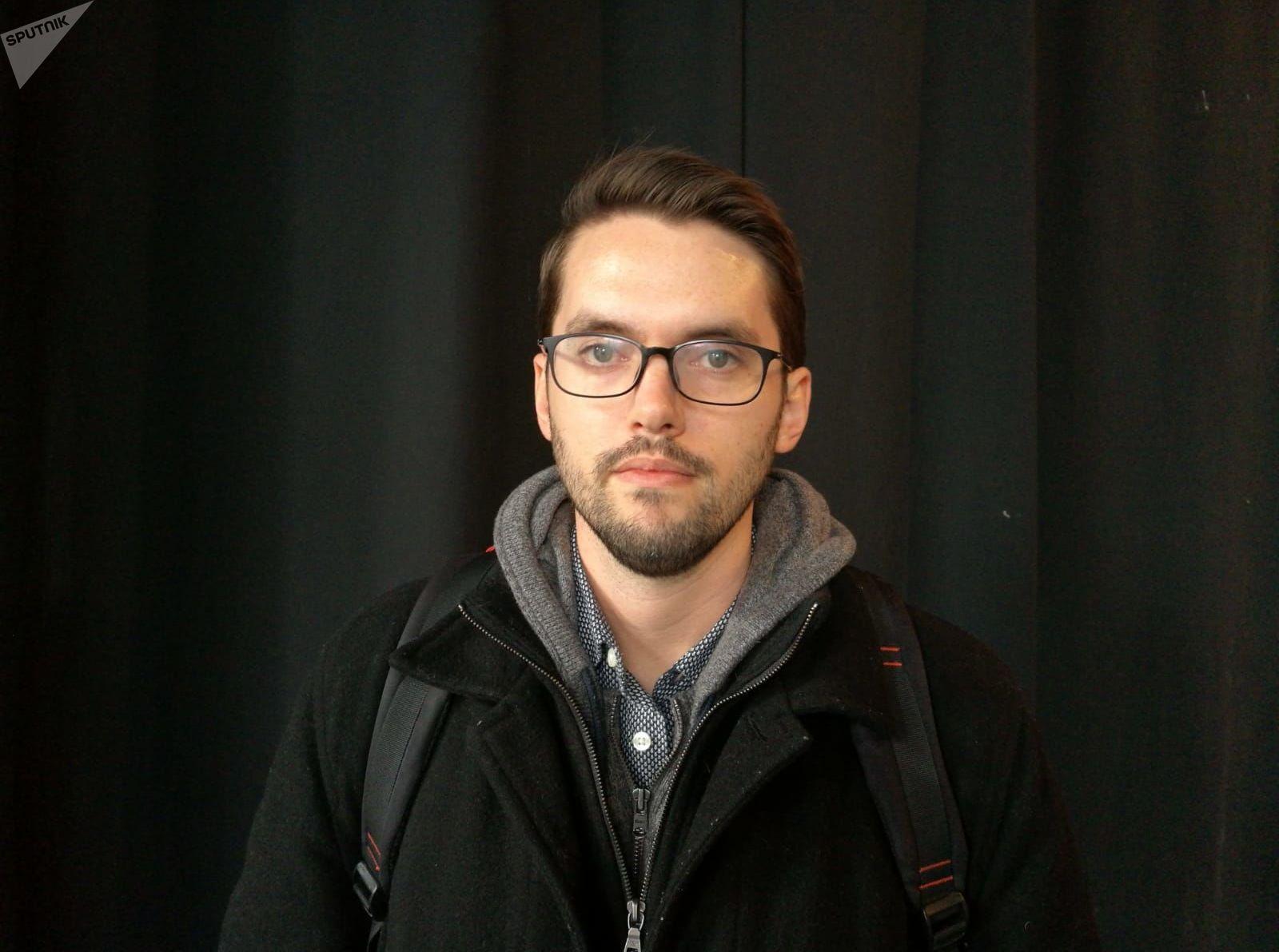 Andrew Fishman, editor de The Intercept Brasil, durante el 'Media Party 2019'