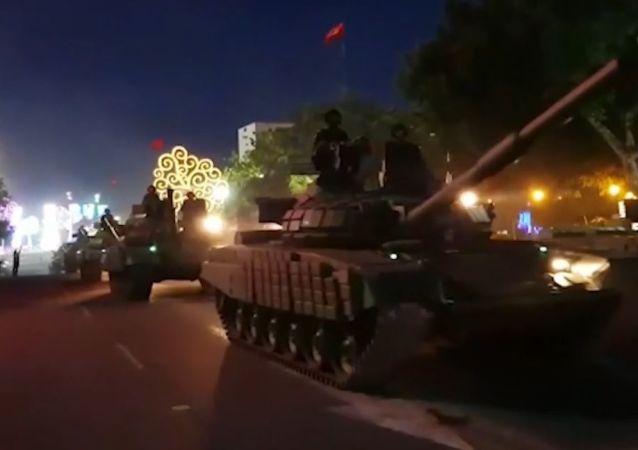 Tanques rusos salen a las calles en Nicaragua