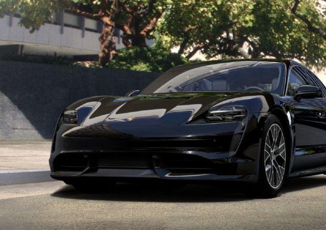 La versión Turbo S del auto Taycan producido por Porsche
