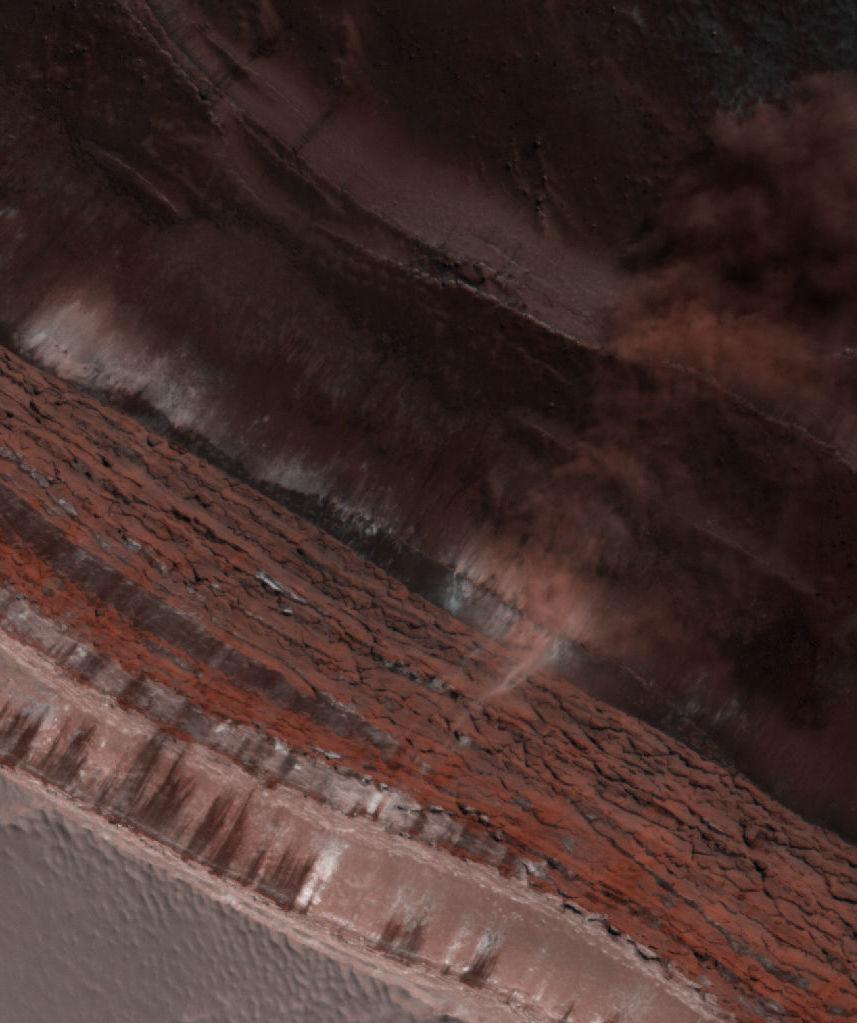La avalancha en Marte