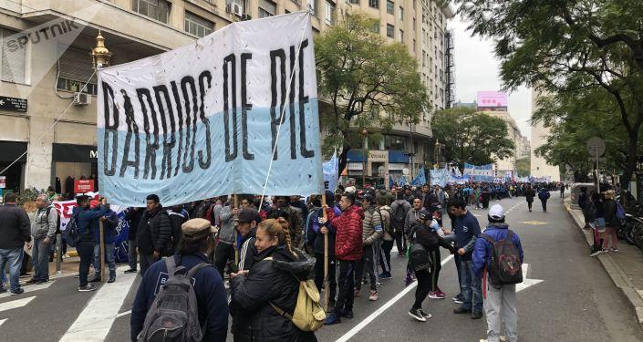 Marcha del movimiento Barrios de pie