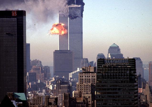 Un avión choca contra las Torres Gemelas de Nueva York el 11 de septiembre de 2001