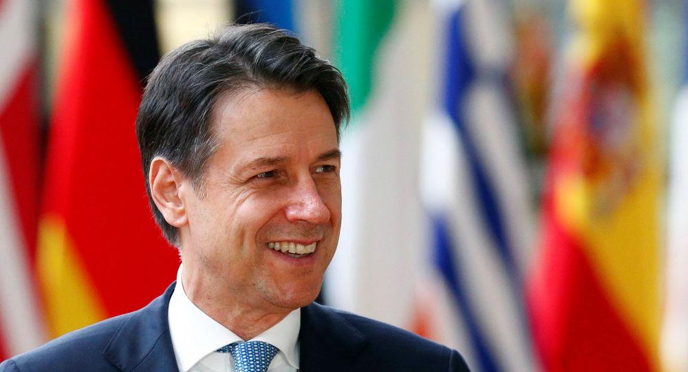 Giuseppe Conte, el primer ministro de Italia,
