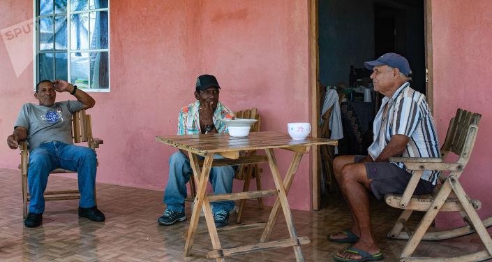 Residentes de Big Corn Island