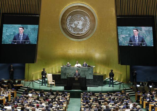 El discurso del presidente de Brasil, jair Bolsonaro, en la Asamblea General de las Naciones Unidas