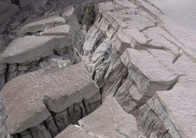 Un glaciar del Monte Blanco está a punto de colapsar